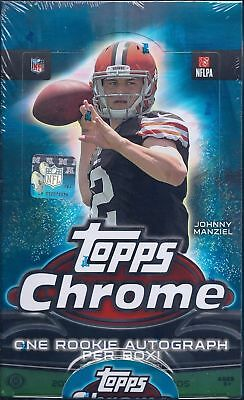 2014 Topps Chrome Football Factory Sealed Hobby Box - Chrome Football Cards Hobby Box