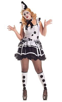 Clown Costume Plus Size (Party King Women's Plus Size Pierrot Sad)