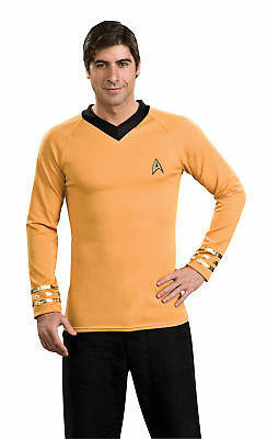 Star Trek Captain Kirk Classic Gold Shirt Adult Mens Costume Halloween Party