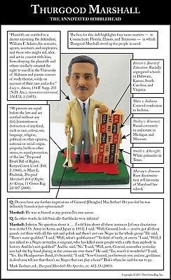 Justice Thurgood Marshall Bobblehead, Green Bag Supreme Court