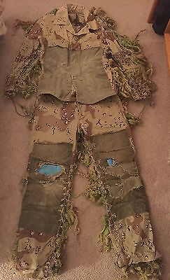 NSW Navy SEAL Ghillie Suit Operationally Worn In Gulf War 1 RARE