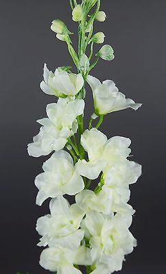 Rittersporn 78cm weiß LM künstliche Blumen Kunstblumen Seidenblumen