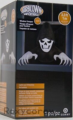 Halloween Scary Window (Halloween Gemmy 3.3 ft LED Scary Window Creeper Reaper Airblown)