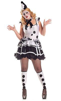 Party King Women's Plus Size Pierrot Sad Clown 1X 14-16](Plus Size Clown Costume Women)