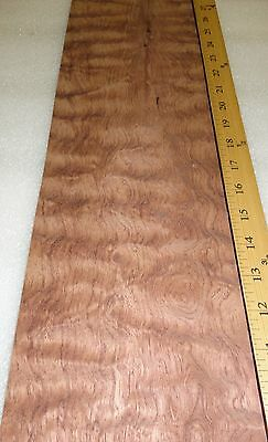 Bubinga Waterfall Quilted Figure Wood Veneer 5 X 20 Raw No Backing 132 Thick