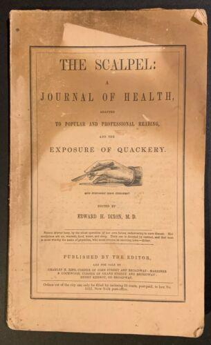 ANTI-QUACKERY SCALPEL HEALTH JOURNAL #1 Quack Medicine ABORTION GYNECOLOGY PLATE