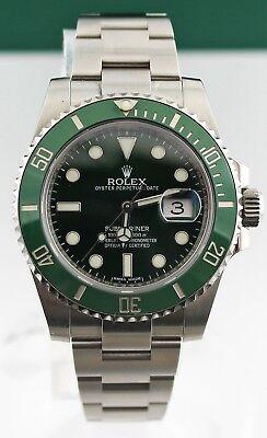 MINT ROLEX SUBMARINER HULK 116610LV GREEN CERAMIC MENS 40MM WATCH BOX & PAPERS