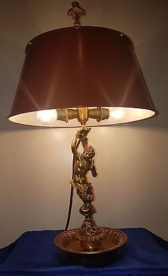 Bouillotte Lampe Tischlampe figürlich Tischleuchte