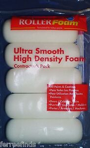Lot-of-8-packs-4-Foam-Paint-Roller-Cover-Hi-Density-Quali-Tech-4FOAMQ5