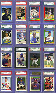 Big Lot of 16 PSA Rookies 1978 -1994 inc/ 78 Topps Murray,93 AROD PSA 10's! More