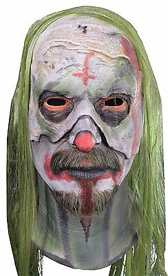 Halloween ROB ZOMBIE'S 31 PSYCHO WITH HAIR HEAD LATEX DELUXE MASK Haunted House