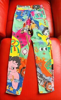 Versace Jeans Betty Boo Vintage Multi. Colour Collector's Piece Size 27