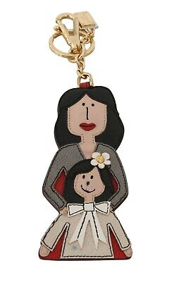 DOLCE & GABBANA Keychain Leather MAMMA Mother Daughter Clasp Keyring RRP $400