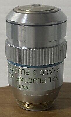 Leitz Npl Fluotar 401.3 Oil 1600.17 Phaco 3 Fluoreszenz Microscope Objective