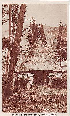 New Caledonia Couli - Chief's Hut old unused sepia postcard