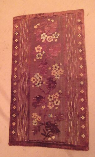 vintage ornate embroidered centerpiece table mat runner velour needlepoint 22