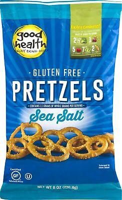 Good Health Gluten Free Pretzels with Sea Salt 8 oz. Bag (3 Bags)