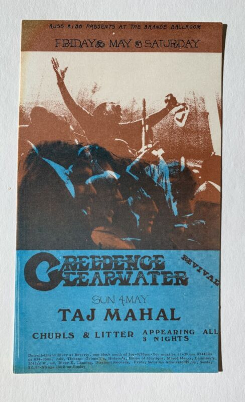 Creedence Clearwater Revival Original 1969 Concert Postcard