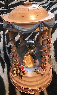 Disney BEAUTY AND THE BEAST Musical Snowglobe 1991 Rare Vintage Figure
