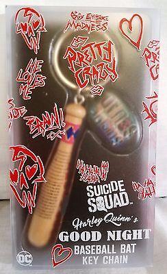 Harley Quinn's Good Night Baseball Bat Suicide Squad Key Chain QMx Replica