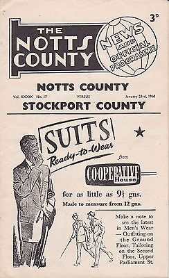 Notts County v Stockport County,  Division 4,  23/1/1960