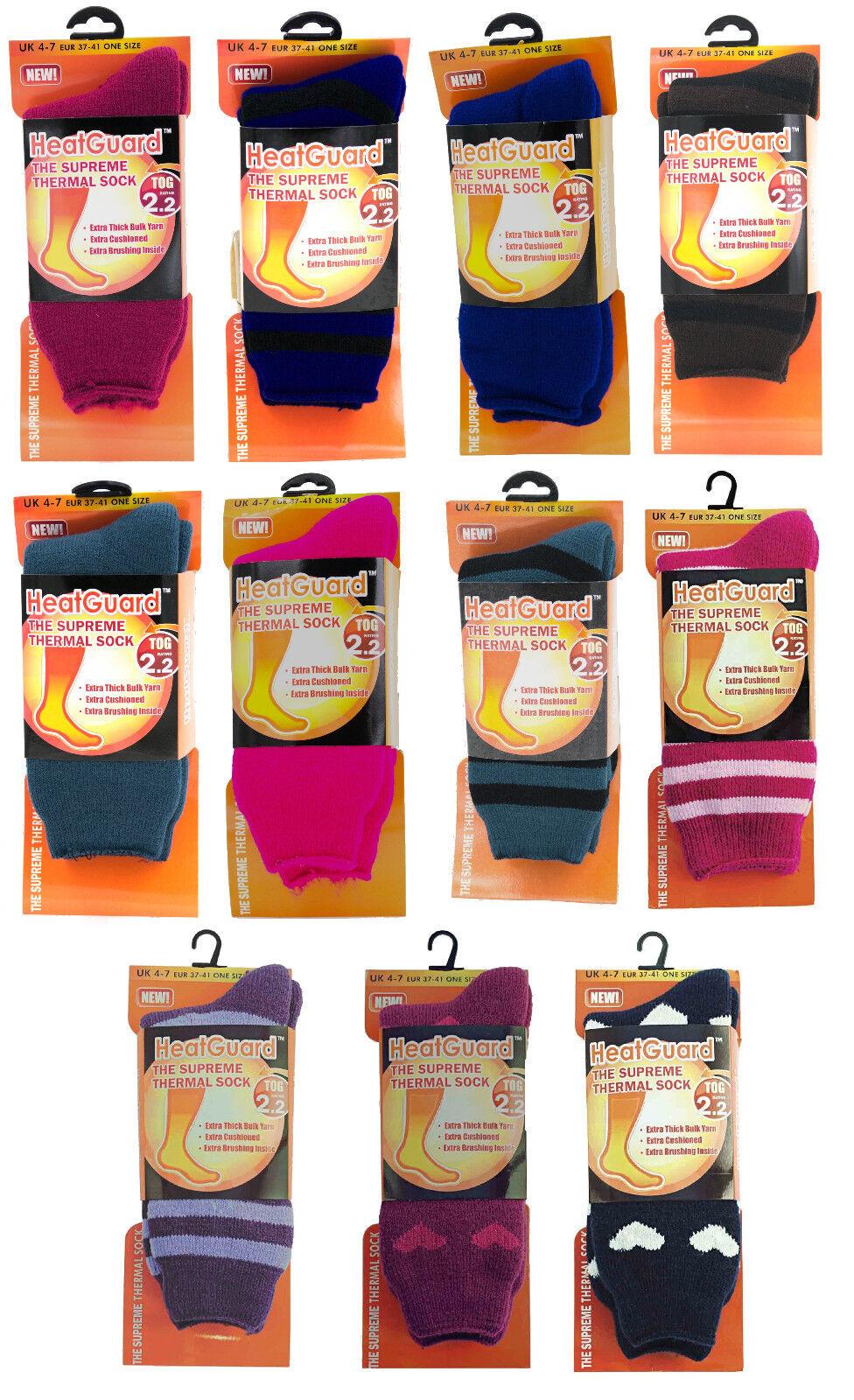 Ladies Heatguard Supreme Thermal Winter Socks ~ 2.2 Tog
