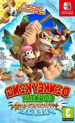 Donkey Kong Country: Tropical Freeze (Nintendo Switch, 2018) NEW