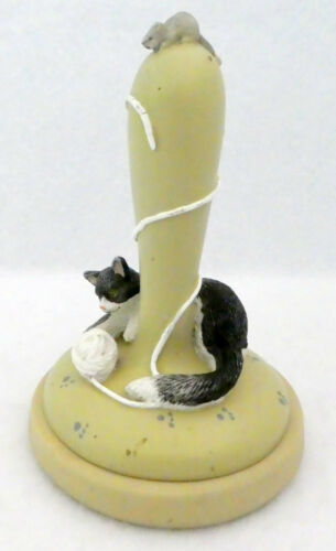 Brown Bag Cookie Art 1995 Stamp Contented Cat #9 Retired Mold Press Yarn Mouse