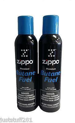 Genuine Zippo Blu Butane Fuel  (11.64 oz. 330 grams)  (( 2 Cans Total ! ))