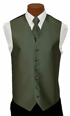 Large Mens After Six Aries Celedon Fullback Prom Wedding Tuxedo Vest & Tie After Six Aries Vest