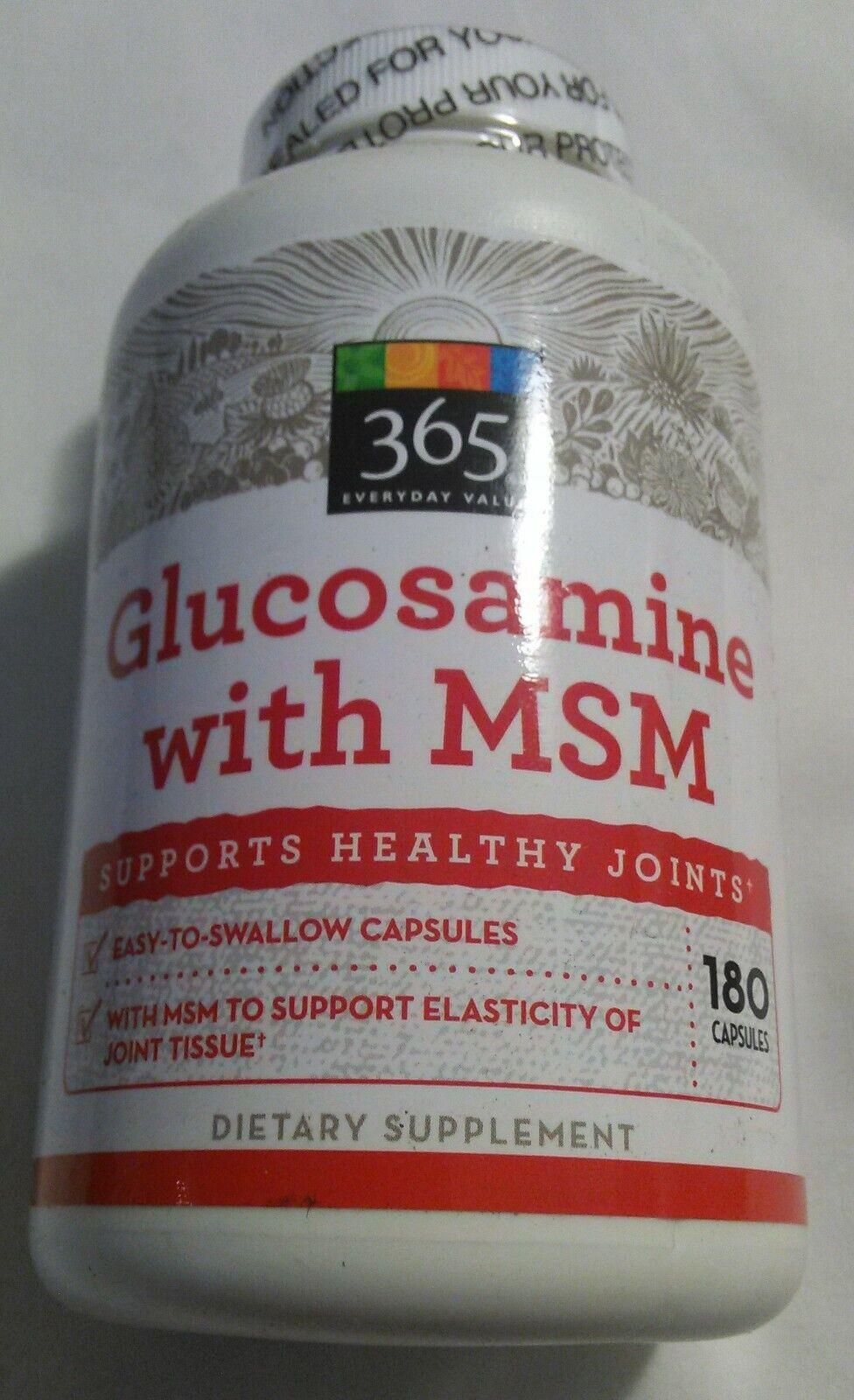 sealed glucosamine 1500 mg w msm 180