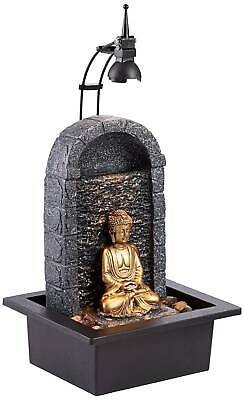 "Buddha 17"" High Gold Indoor/Outdoor LED Table Fountain"