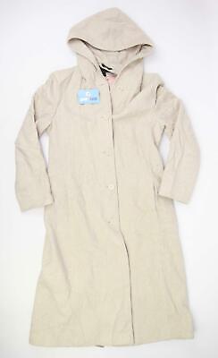 Jones New York Womens Size 8 Wool Blend Beige Hooded Coat
