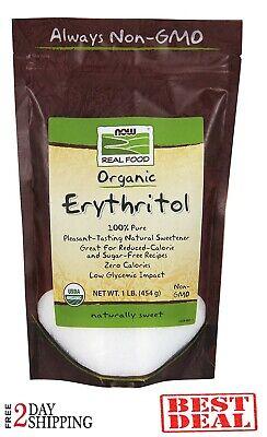 ERITRITOL ORGÁNICO AHORA Edulcorante natural sin azúcar Calorías sin cero 1 libr