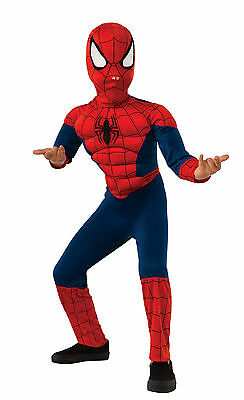 DELUXE ULTIMATE SPIDER-MAN COSTUME! MUSCLE CHEST RED & BLUE MARVEL KID'S (Blue Man Kostüm)