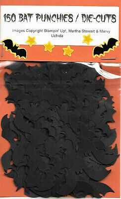 Black Card Stock (150 BATS, Punchies / Die Cuts for HALLOWEEN, BLACK Card Stock)