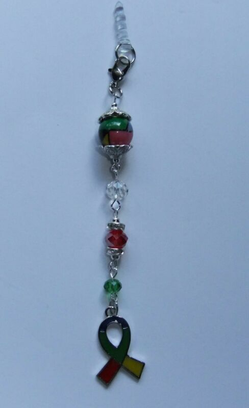 BEADED AUTISM AWARENESS CELLPHONE PLUG, LANYARD, BOOKMARK KEYCHAIN (1 PC)