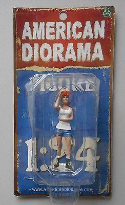 "HOT RODDER NANCY AMERICAN DIORAMA 1:24 Scale Woman Lady Figurine 3"" Figure"