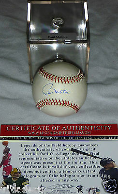 Milwaukee Brewers Twins Blue Jays Paul Molitor Signed OAL Baseball HOLO COA CASE