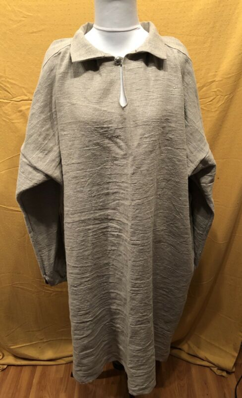 Large Natural Linen Longhunter Shirt, Mountain Man, Pirate, Colonial