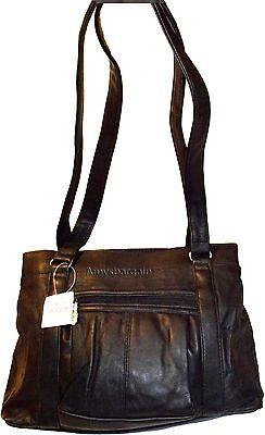 Schwarz Leder Tasche-tag (Neu Damen Leder Tragetasche Schwarze Handtasche,Einkaufstasche Tag Tasche)
