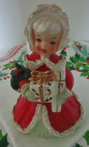 Vintage 1950's Japan Napco Ceramic Christmas Angel Spaghetti Trim Figure