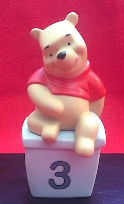 """Adorable Disney's Winnie The Pooh Bear with Golden Bumblebee Figurine (4"""" tall)"""