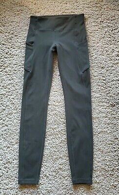 Lululemon Speed Up Tight Pants Dark Olive Green Sz  4   EUC!!