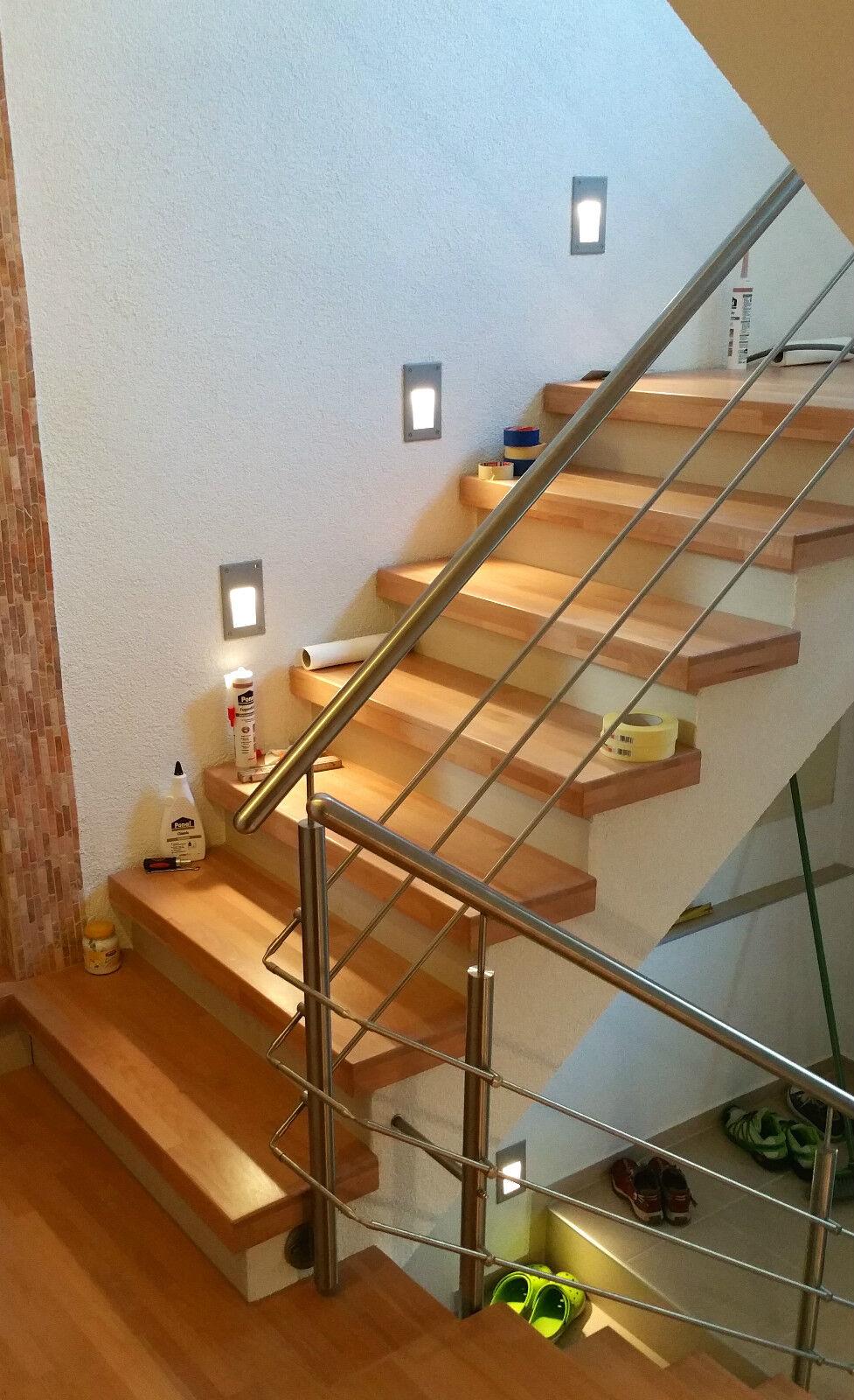 treppenrenovierung f r heimwerker stufen aus echtem holz kompletter bausatz eur 35 95. Black Bedroom Furniture Sets. Home Design Ideas