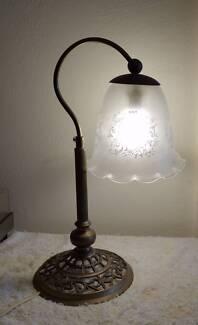 ORNATE BRASS TABLE LAMP