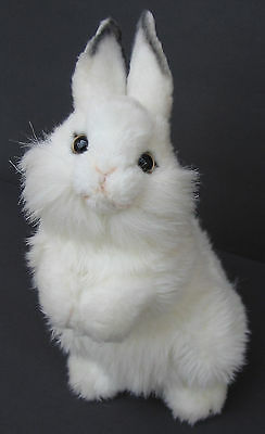 "12"" Hansa Baby White Bunny Rabbit Portraits of Nature Plush Stuffed Animal Toy"