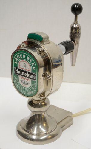 Vintage Heineken Beer Bar Lighted Tap Chrome Rare Hard to Find