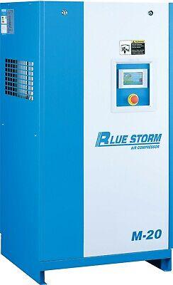 Bluestorm 15hp Screw Air Compressor Vsd Permanent Magnet Motor 220v 1 Or 3 Phase