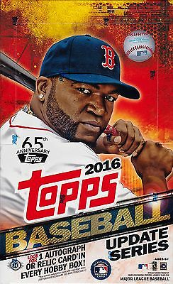 2016 Topps Update Series Baseball sealed hobby box 36 packs of 10 cards